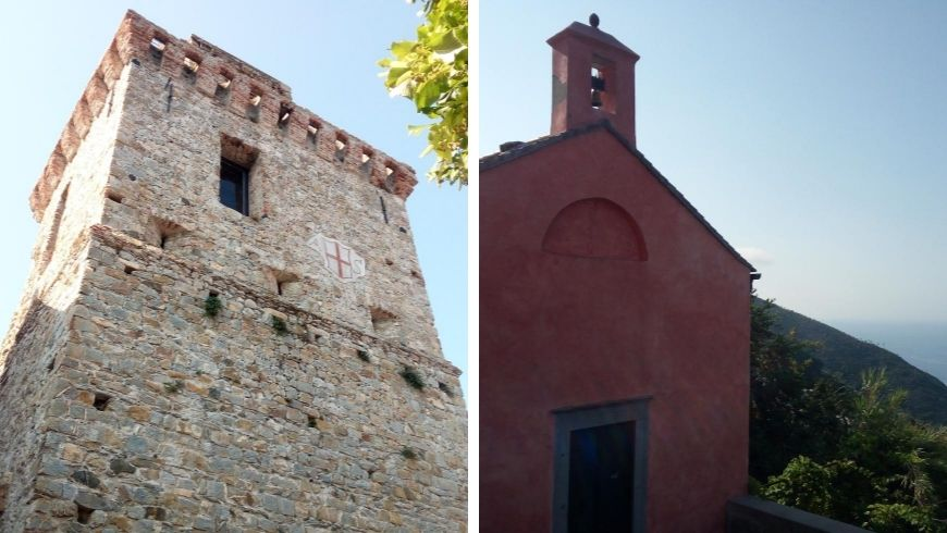 Watchtowers and church in Framura