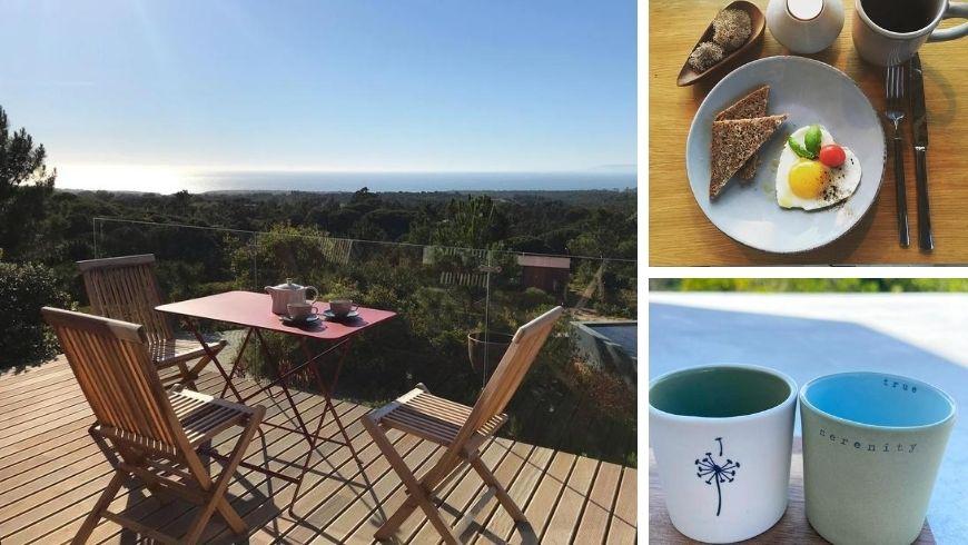 Organic and local breakfast at Villa Epicurea