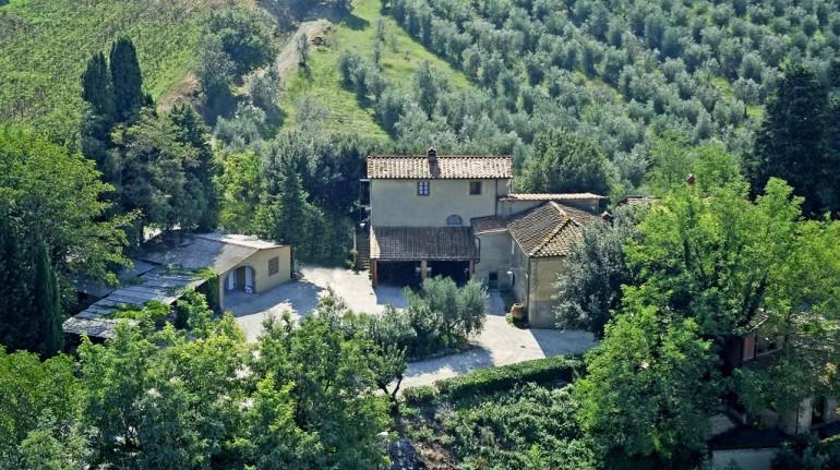 La Prugnola Farm from above