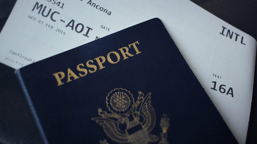 passport and travel tiket