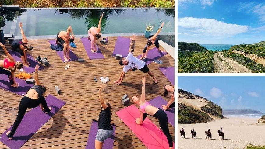 yoga retrats walks hoseback at villa epicurea