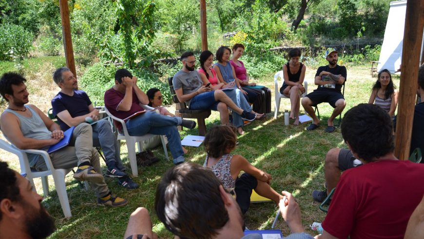 Course of Permaculture at straw bale house felcerossa