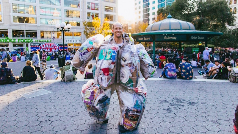 Rob Greenfield and wastes