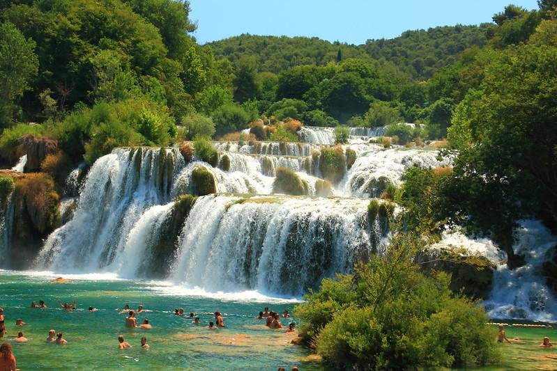 View of skradinski buk waterfalls