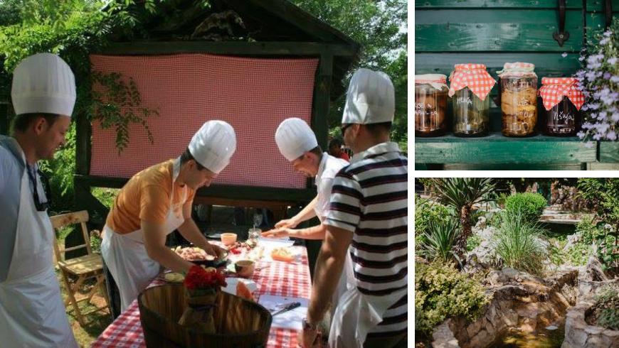 Kalpić family cooking, jam jars and gardens