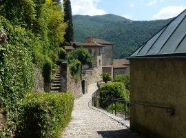 Morcote village in Ticino