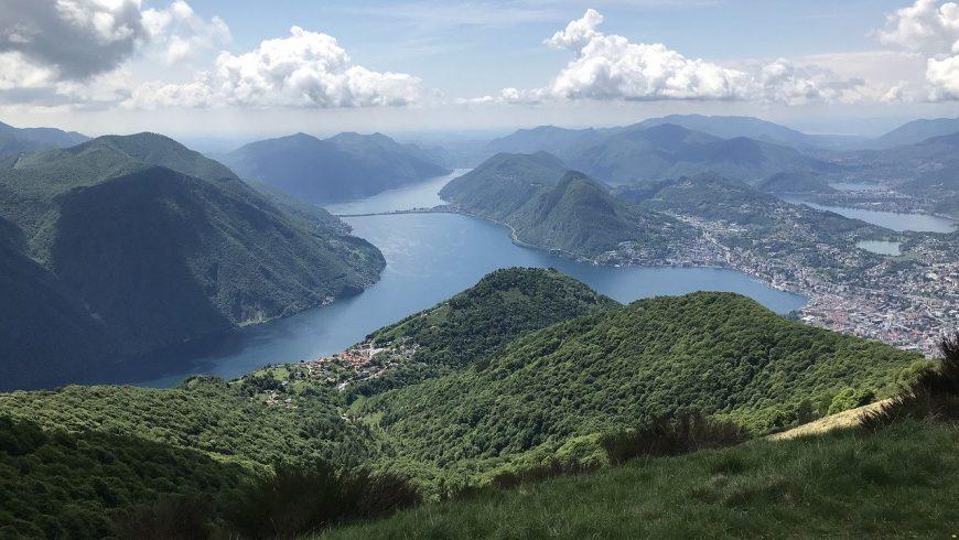 View of Lake Lugano from Monte Brè