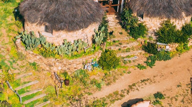 Pinettos, ancient Sardinian huts