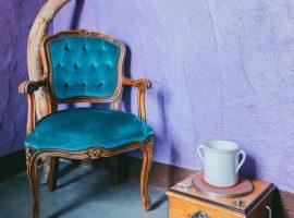Vintage armchair at Essenza Sardegna