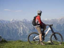 Riding your bike while glamping in Slovenia