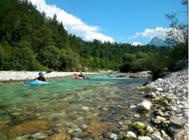 Kayaking on the river Soca