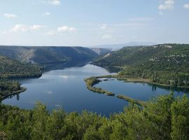 View of Krka river in Krka National Park