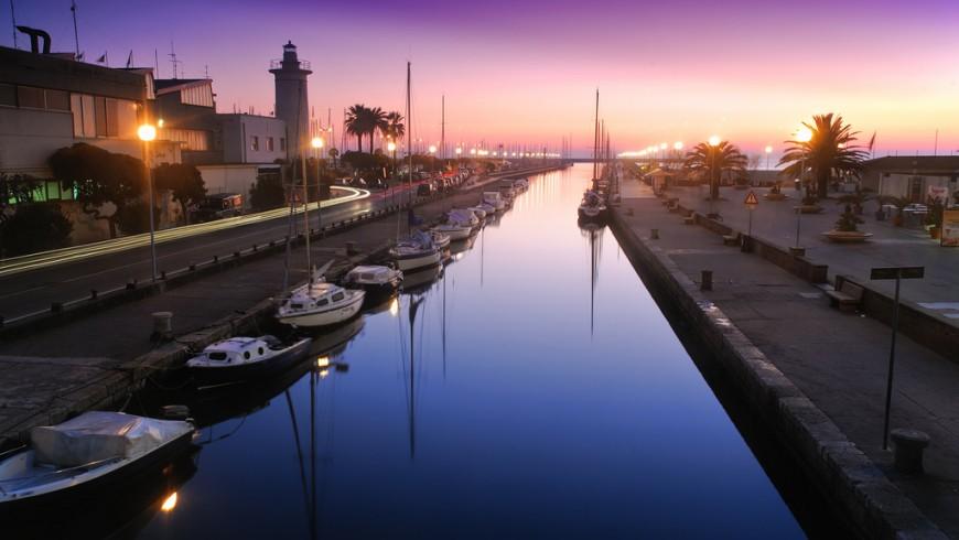 Viareggio at sunset