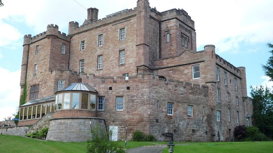 Dalhousie Castle, one of the top haunted castles in UK