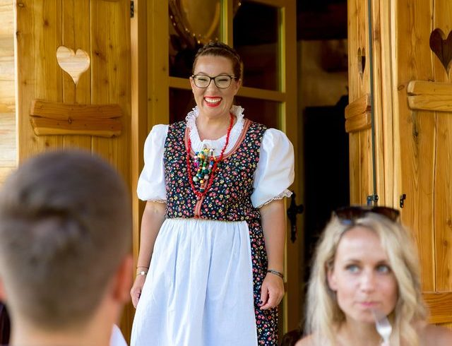 Picture of Selma Seifert, the owner of Divjake Log Home eco chalet in Croatia