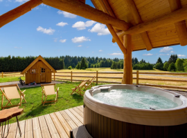 View of the courtyard and the hydromassage hot tub