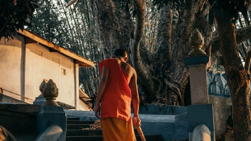 monk at Luang Prabang