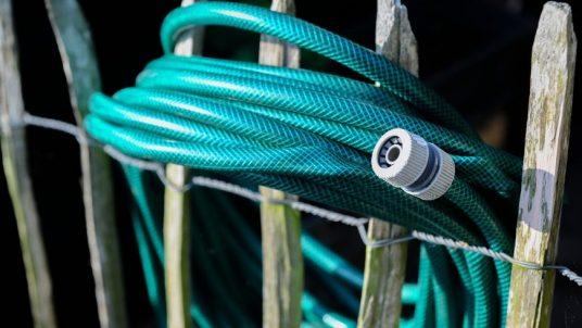a flat garden hose