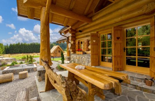 External wooden table