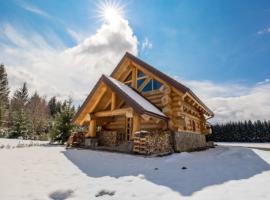 Divjake Log Home, front view