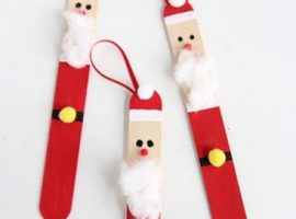 Christmas decorations created with clothespins