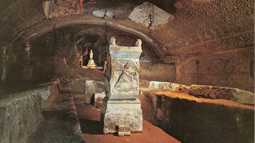 Ancient underground of san clemente church, rome