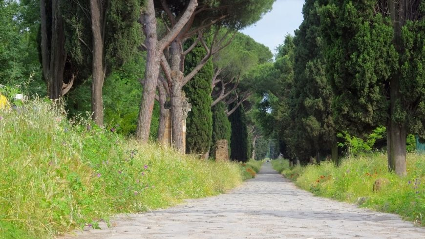 ancient appia road in nature