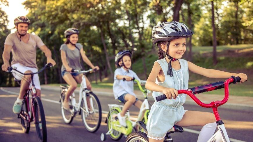 riding a bike family