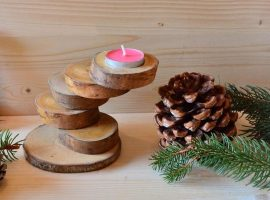 candle holder from scrap wood