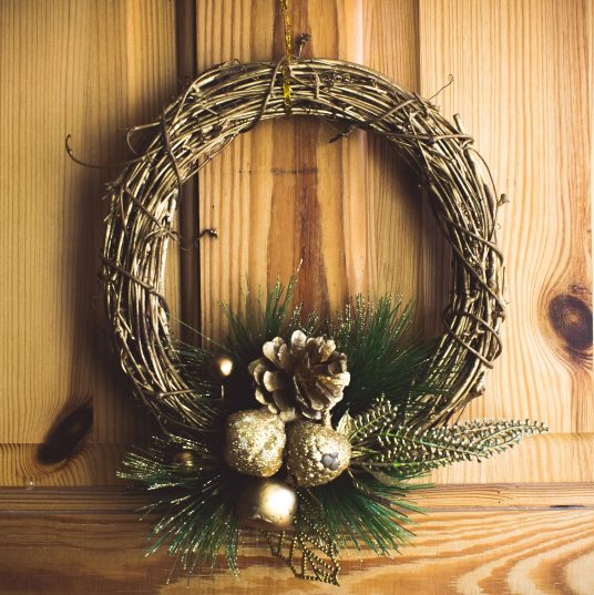 Christmas wreath of intertwined branches