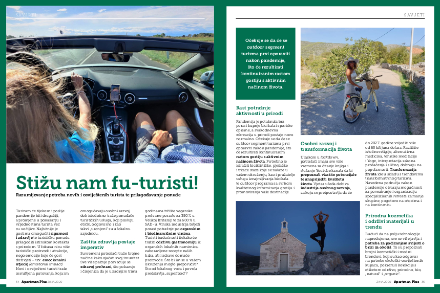 article on Apartman Plus about eco-tourists