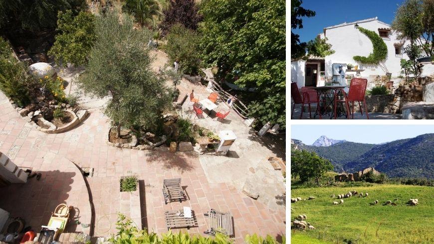 Farmhouse Huerta Cinco Lunas. Where you can escape the hustle and bustle of the city