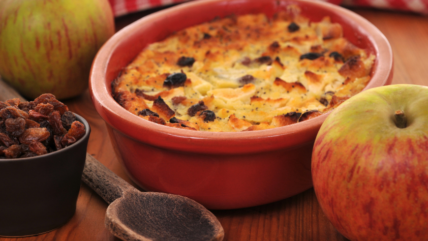 pudding with Manna and Apples