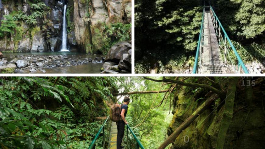 Hiking Salto do Cabrito, Sao Miguel island