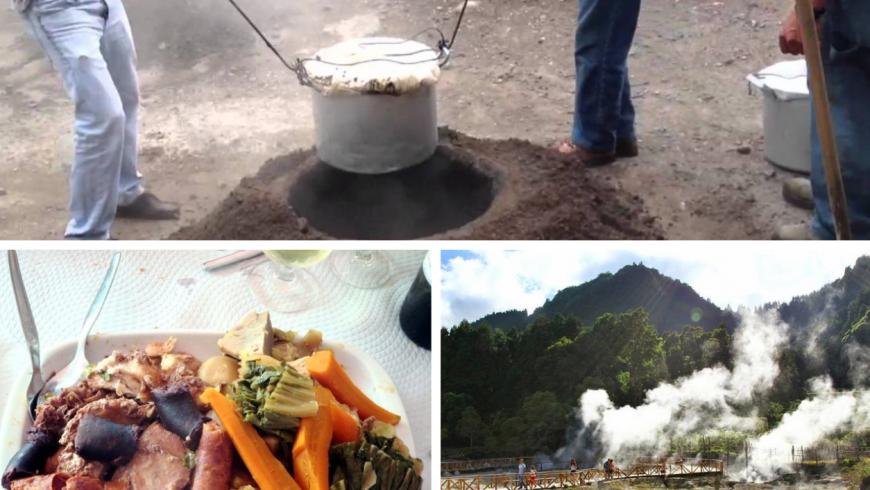 Cozido de Furnas. Azores local food. Photos by escapadarural.pt, viajarentreviagens.pt