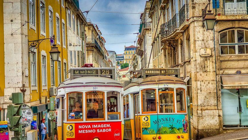 Tram 28 in Lisbon. Photo by pixabay.com