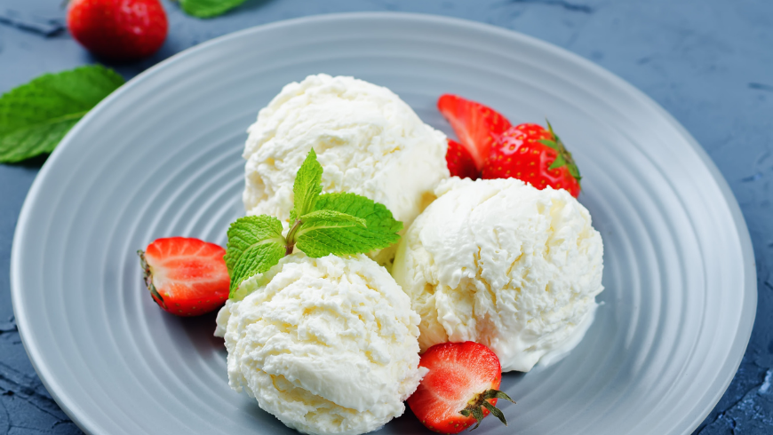 Ricotta and Manna Ice-Cream