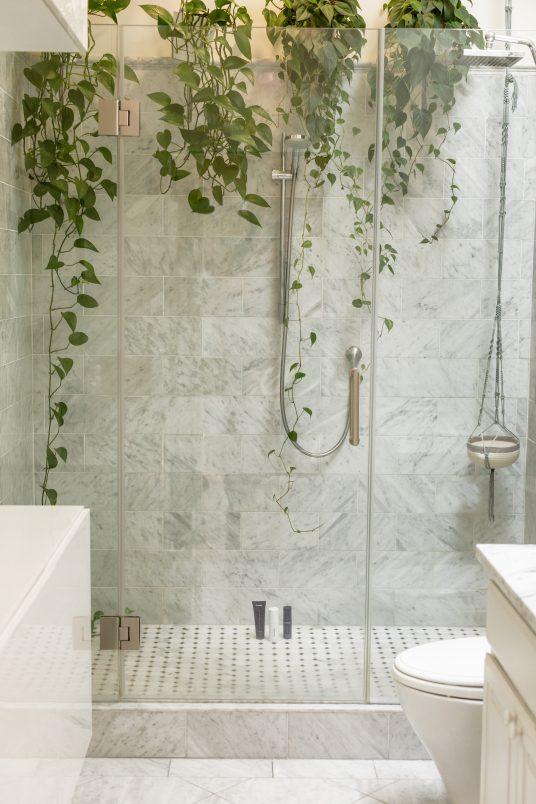 shower, green bathroom