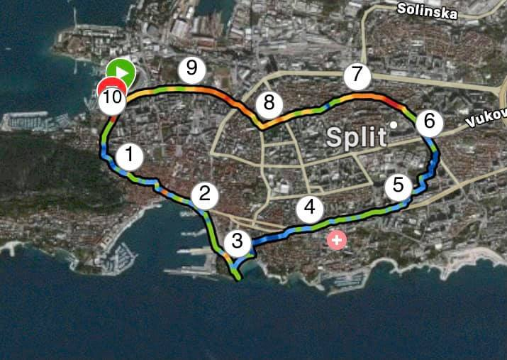 Running in Split - trail