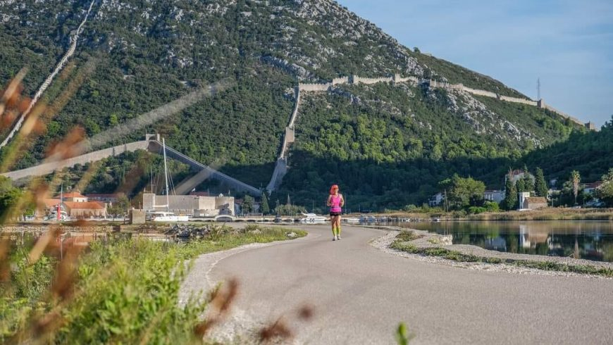 running route along the Ston Walls 5