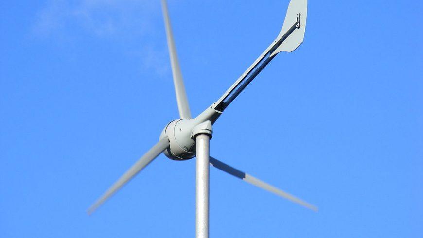 small wind turbine near Machynlleth, Wales