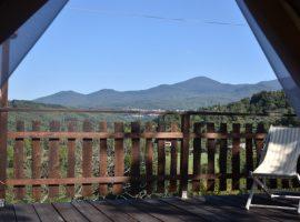 Panoramic view of Podere di Maggio tent