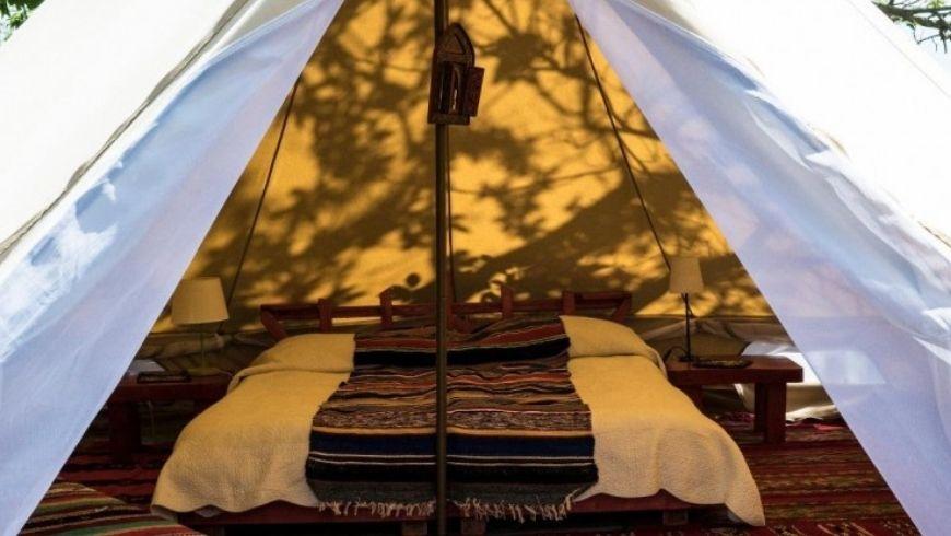 Inside tent Podere di Maggio