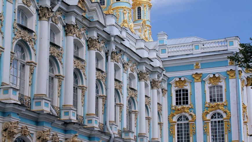 Catherine's Palace, famous for the amber room