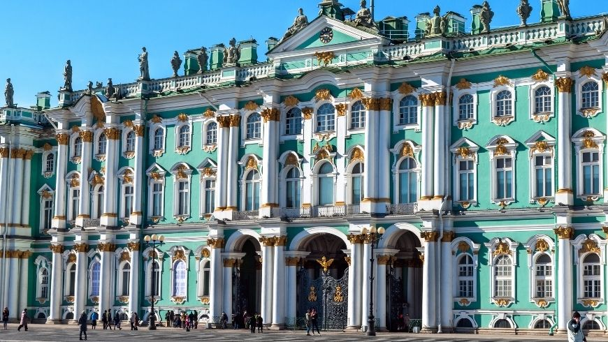 Hermitage facade, one of the most beautiful Green Museums