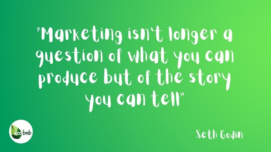 Marketing isn't longer a question of what you can produce but of the story you can tell