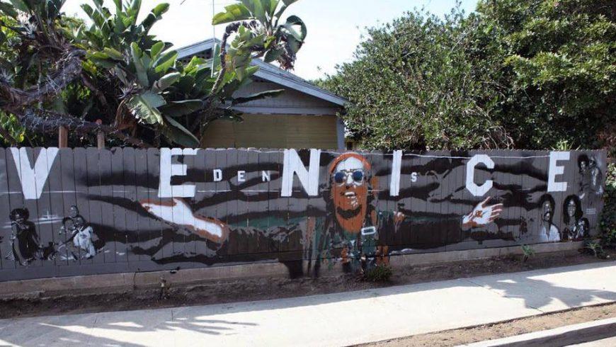 Stencil of Venice in Los Angeles