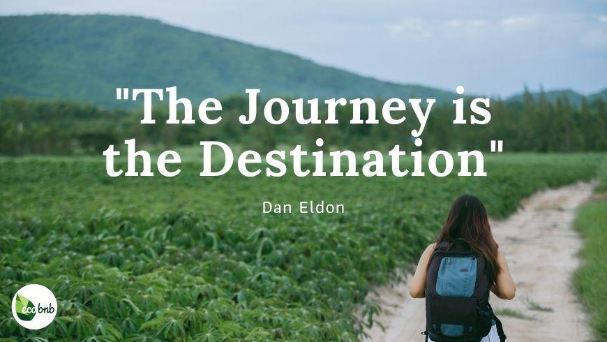 The Journey is the destination, cit. of Dan Eldon