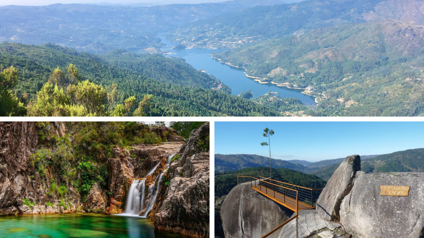 Natural Parks in Portugal. Photos by wikimedia.org, vortexmag.net, e-konomista.pt