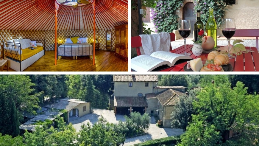 beautiful organic camping in tuscany